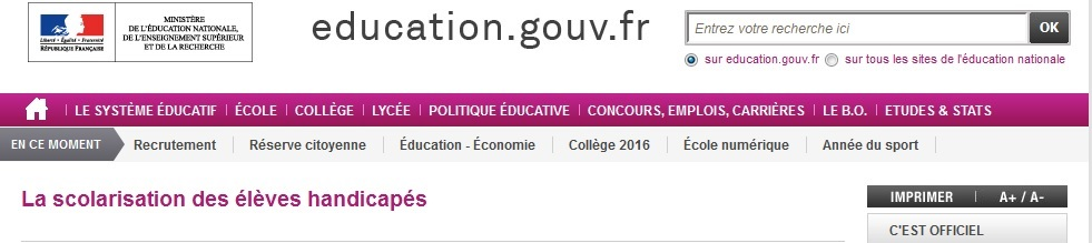 site-education nationale